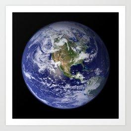 Earth in Miniature Art Print