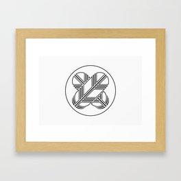 Kikuchi Clan · Black Mon · Outlined Framed Art Print