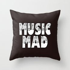 MUSIC MAD Throw Pillow