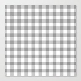 Small Gray & White Vichy Canvas Print