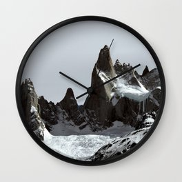 mountains of Patagonia Wall Clock