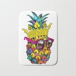 Pineapple King Colorful Bath Mat