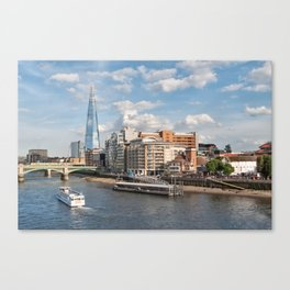 London Skyline and River Thames Canvas Print