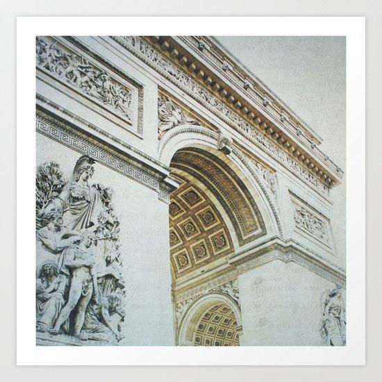 Letters From Triomphe - Paris Art Print
