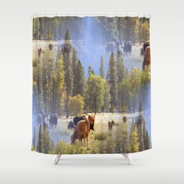 Another place in another time... Shower Curtain
