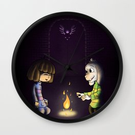 Frisk and Asriel Wall Clock