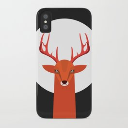 Deer and Moon iPhone Case
