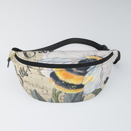Save The Bees Collage Fanny Pack