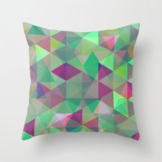 Pastel Triangles Pattern - Abstract, geometric, pastel coloured artwork Throw Pillow