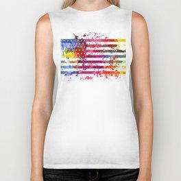 Splash US Flag Biker Tank