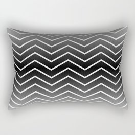 Fat Thin Chevrons Dove White Rectangular Pillow