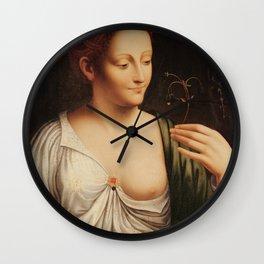 "Francesco Melzi ""Colombine"" Wall Clock"