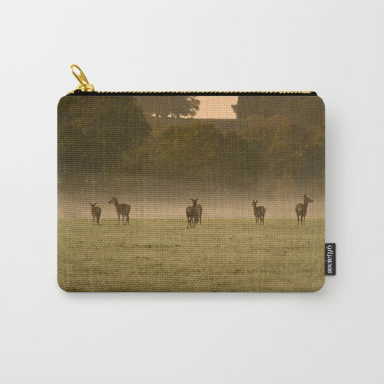 Buck in green grass Carry-All Pouch