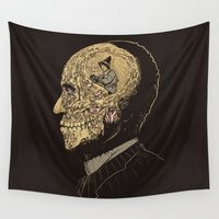 zombies Wall Tapestries featuring Why zombies want brains by Alex Solis