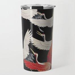 Furisode with a Myriad of Flying Cranes (Japan) Travel Mug