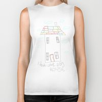 house Biker Tanks featuring House by Frances Roughton