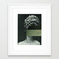 rothko Framed Art Prints featuring Frau Rothko by Marko Köppe