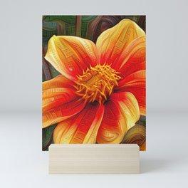 Orange Flower, DeepDream style Mini Art Print