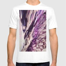 Raindrops/Rainbows MEDIUM White Mens Fitted Tee