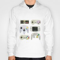 gamer Hoodies featuring Gamer Nostalgia by discojellyfish