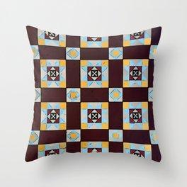 Floor Series: Peranakan Tiles 4 Throw Pillow