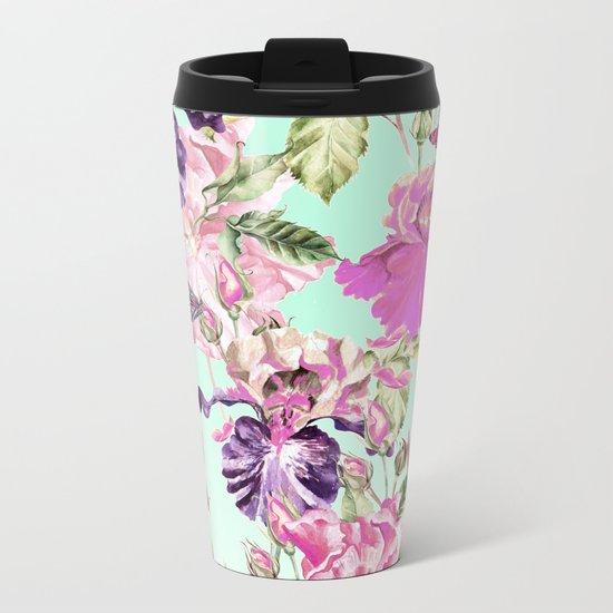 Wild wildflowers Metal Travel Mug