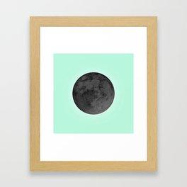 BLACK MOON + TEAL SKY Framed Art Print