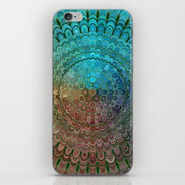 Cold Metal Flower Mandala iPhone Skin