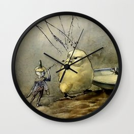"""Bother the Gnat"" by Duncan Carse Wall Clock"