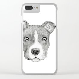 Staffordshire Terrier Dog Clear iPhone Case