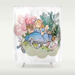 Alice reads Shower Curtain