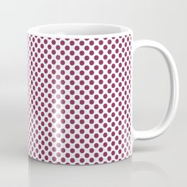 Raspberry Radiance Polka Dots Coffee Mug