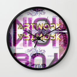 Buy Unique Art - a promotional art collage Wall Clock