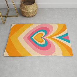 Retro Hypnotic Hearts Wallpaper (x 2021) Rug