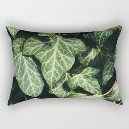 Green Ivy Leaves Rectangular Pillow