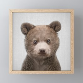 Baby Bear - Colorful Framed Mini Art Print