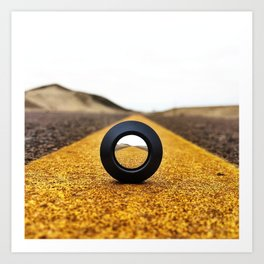 Road to peru Art Print