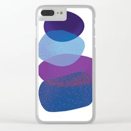 Scattered Abstract Clear iPhone Case