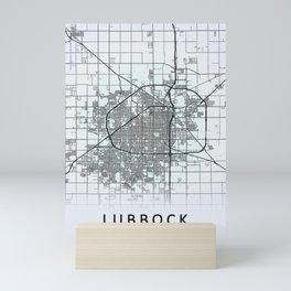 Lubbock TX USA White City Map Mini Art Print