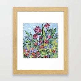 Garden Flowers Framed Art Print