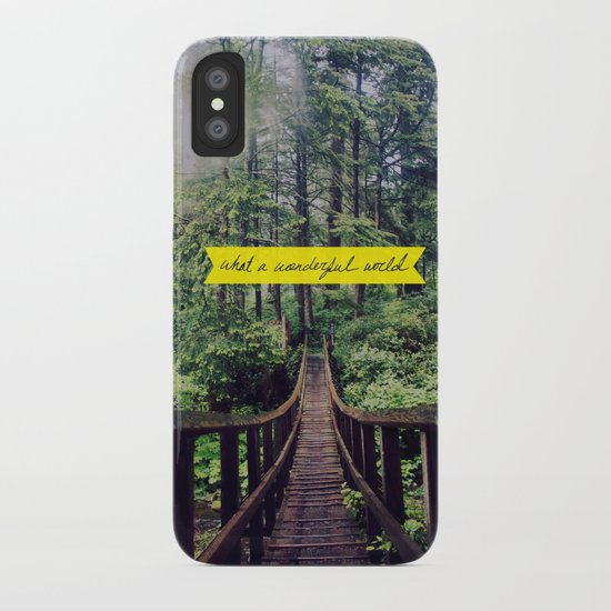 What a Wonderful World iPhone Case