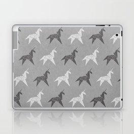 Origami Unicorn Grey Laptop & iPad Skin