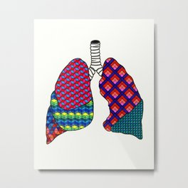 Geometric Lungs Metal Print