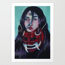 Hidden self Art Print