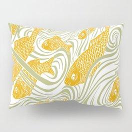 Art Nouveau Swimming Koi by Seasons K Designs Pillow Sham