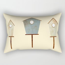 Birdy Birdhouse Rectangular Pillow