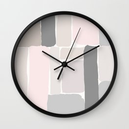 Soft Pastels Composition 2 Wall Clock