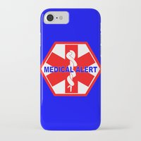 medical iPhone & iPod Cases featuring  MEDICAL ALERT IDENTIFICATION TAG by Sofia Youshi