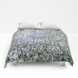 Sage and Lilac Waves Juul Art Comforters