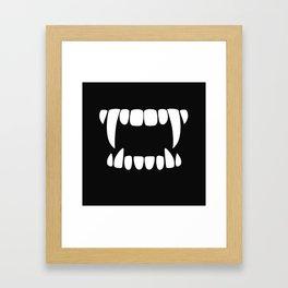 Vampire Teeth Framed Art Print